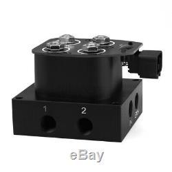 1/4NPT 2Corner Block Manifold Solenoid Valve 350PSI Control Air Bag Suspension
