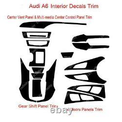 5D Reflective Carbon Fiber Interior Dash Decal Cover Trim For 2012-17 Audi A6 C7