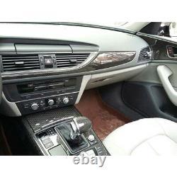 5D Reflective Carbon Fiber Interior Set Decal Trim Dash Kit For 2012-17 Audi A6