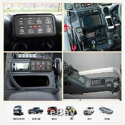 8 Gang Switch Panel, AKD Part Circuit Control Box Universal Jeep Switch Box Wiri