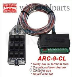 Air Ride Switch Box AVS Clear 9 Button Rocker Suspension System Controller