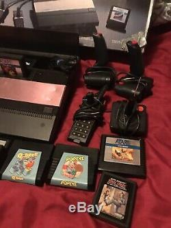 Atari 5200 Console with power supply, box, 10 games, 8 controllers Parts As Is