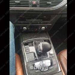 Auto 5D Reflective Carbon Fiber Interior Decal Trim Dash Kit For Audi A6 2012-up