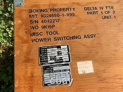 Delta IV Rocket controls box Spacex celebrate space coffee table