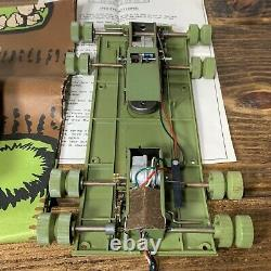 (For Parts Only) 1960s Sears Remote Controlled Exploding Tank Original Box VTG