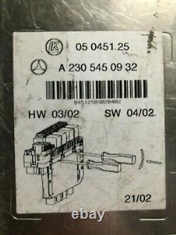 Mercedes-Benz SL R230 SAM Modul Steuergerät A2305450932