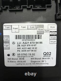 Mercedes Original W221 S Klasse Tür Steuergerät Door Control Unit VL A2218709486