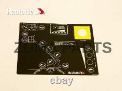 NEW Bil-Jax Upper Control Box Decal Overlay (Haulotte Part # A-00465-D)