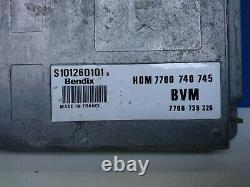 Renault R25 V6 Electric Control Unit Ecu S101260101 B S101260101b Hom7700740745