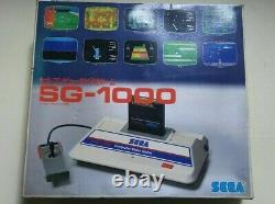 SEGA SG-1000 Game Console Controller Boxed AC adapter Vintage Junk for Parts