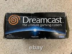 Sega Dreamcast System with Box, Two Controllers Bundled Console Untested, Parts