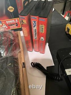 Sega Genesis System Console Complete In Box With Controller & Sonic 2 For Parts Re