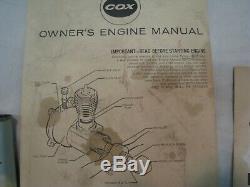 Vintage COX RED BARON. 020 Gas Engine Control Line Bi-Plane WithBox & Parts