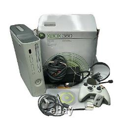 Xbox 360 White Console Bundle With Box Controller Power Component Cables Tested